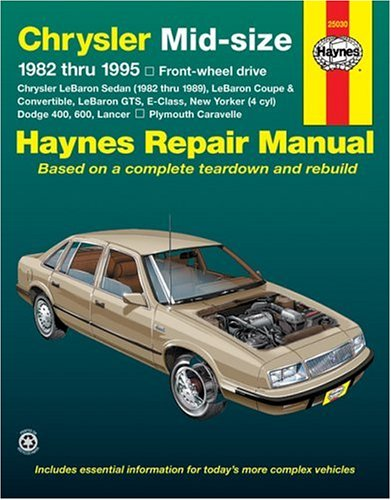 Chrysler Midsize Sedans (Fwd) '82 -'95 (Haynes Repair Manual) front-560698