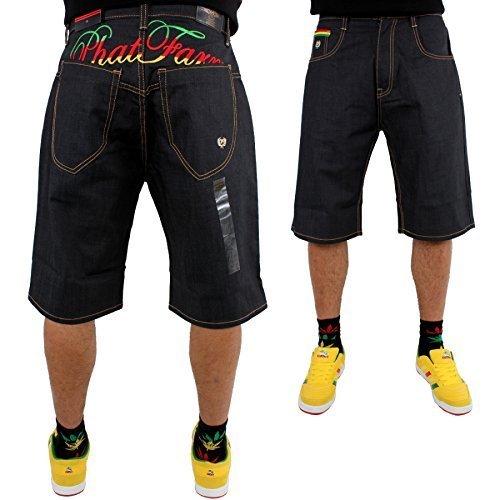 phat-fattoria-rasta-script-larghi-giappone-raw-denim-di-pantaloncini-di-jeans