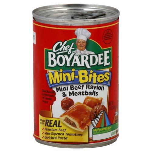 Chef Boyardee Mini-bites Mini Beef Ravioli & Meatballs, 15 Oz (Pack of 24) sale off 2015