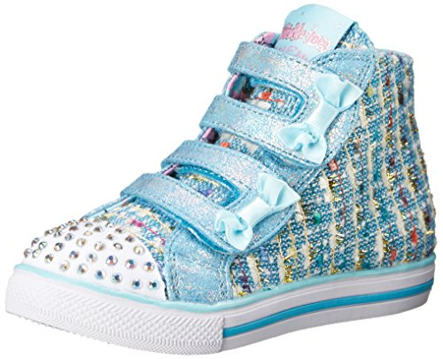 Skechers Kids Chit Chat Lil Primpers Light-Up Sneaker (Toddler/Little Kid),Light Blue,5 M US Toddler (Lil Kids Shoes compare prices)
