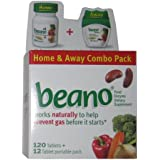 Beano Home Away Combo Pack-120 Tabs +12 Portable Pack