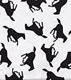 HORSE Silhouette ~ Black & White ~ Flannel Fabric by the Yard
