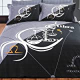 Zodiac Horoscope Libra Full / Queen Duvet Cover Bed in Bag