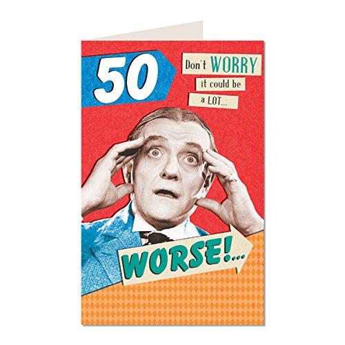 50-Dont-Worry-Il-pourrait-tre-un-Lot-WorseOff-votre-Rocker-danniversaire-Humoristique-humour-Carte-de-vux-YR02-m