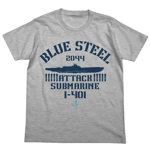 蒼き鋼のアルペジオ -アルス・ノヴァ- 蒼き鋼 イ-401 Tシャツ ヘザーグレイ サイズ:L