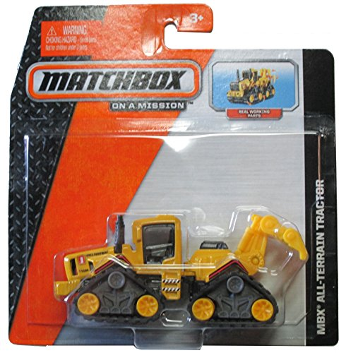 Matchbox 2014 On a Mission: Yellow Mbx All-Terrain Tractor - Real Working Parts