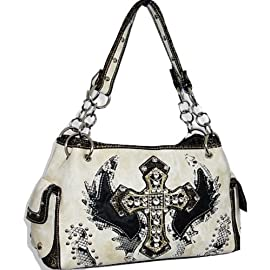 Ivory Fashion Cross & Wing Purse