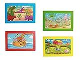 Riviera Games 76 6068 Casse tête Puzzle En Carton Lot De 4 Enfants