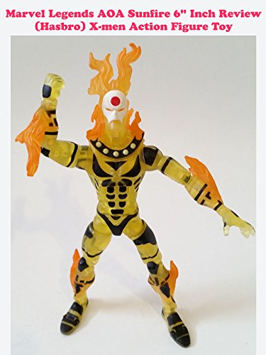 "Marvel Legends AOA Sunfire Review X-men 6"" action figure toy"