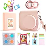 Instax Mini 8 Instant Film Camera 7-In-1 [Starter] Accessories Bundles For Fujifilm Mini 8 Camera (Include Mini 8 Case/Photo Album/Selfie Lens/Filter/Wall Hang Frames/Film Frame/Film Stickers)- Pink