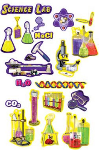 5 Pack Carson Dellosa Science Lab Tools Punchouts