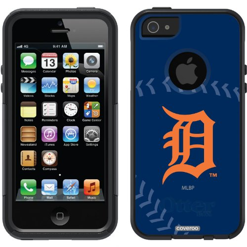 Great Sale Detroit Tigers - stitch design on a Black OtterBox® Commuter Series® Case for iPhone 5s / 5