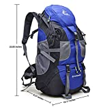VIPASNAM-FREE KNIGHT 50L Blue Outdoor Backpack Camping Hiking Mountaineering