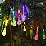 Innoo Tech 20 LED Outdoor Solar Powered Lights Icicle Lights Christmas String Lights for Garden Xmas Holiday-Multi Color