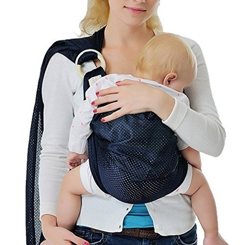GVESS-Baby-Sling-Adjustable-Infant-Wrap-Breathable-Baby-Wrap-Carrier-with-Polyester-and-Quickdry-Fabrics-Material-Baby-Sling-Carrier