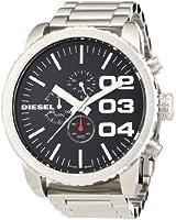 Diesel DZ4209 Franchise 51 Extra Large Chrono Metal Strap Watch, Silver/Black