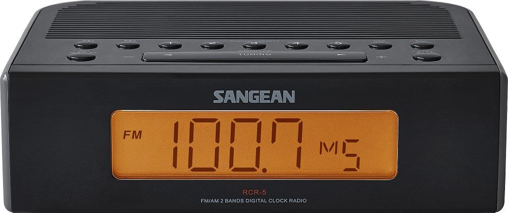 sangean rcr 5 digital am fm clock radio electronics. Black Bedroom Furniture Sets. Home Design Ideas