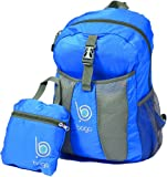 Packable Backpack For Men, Women And Children - Lightweight Foldable Rucksack - Use As Travel Bag, Daypack, Carry On For More Luggage Space - Folds Into It's Inner Pocket - (BLUE)