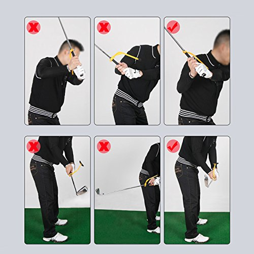 Elemart Golf Swing Trainer Corrector Training Aids Device