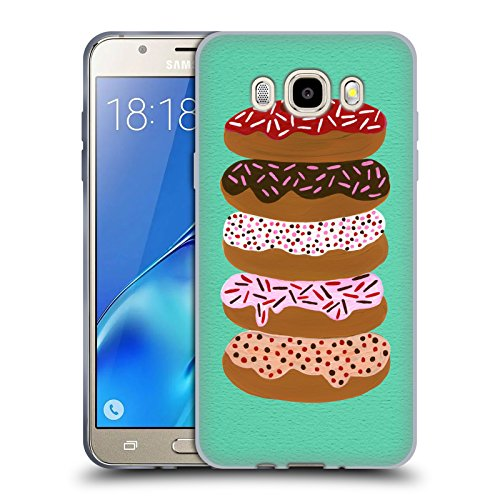 Ufficiale Cat Coquillette Pieno di donut menta Dolci Cover Morbida In Gel Per Samsung Galaxy J5 (2016)