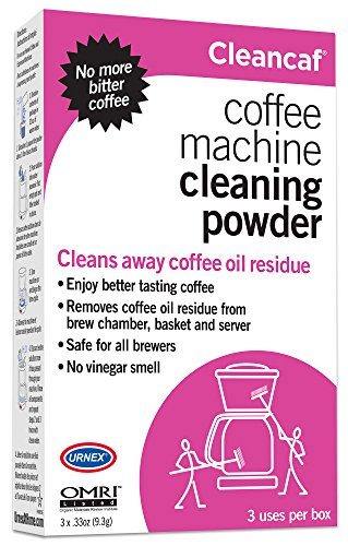Urnex CleanCaf Coffee Machine Cleaning Powder, 3 Single Use Packets (Coffee Maker Cleaners compare prices)