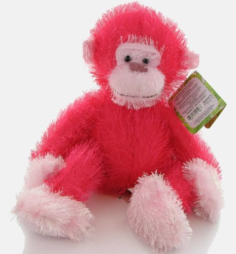"Russ Berrie 15"" Pink Monkey ""Trembles"" with motion and sound - 1"