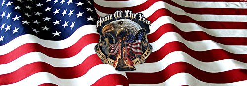 Home of the Free Because of the Brave Full Size Rear Truck Window Graphic (Military Rear Window Graphics compare prices)