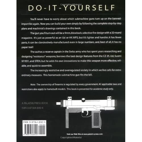 The Do it Yourself Submachine Gun Its Homemade, 9mm, Lightweight