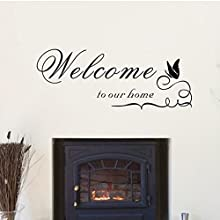 WELCOME TO OU RHOME Wall Removable Vinyl Wall Stickers Mural Home Decal Kids Room Decor
