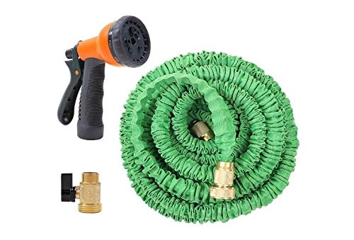 SpeedControl Highly Expandable Watering Garden Hose 75 Feet with Brass Connector and Spray Nozzle (Outside Water Faucet Valve compare prices)