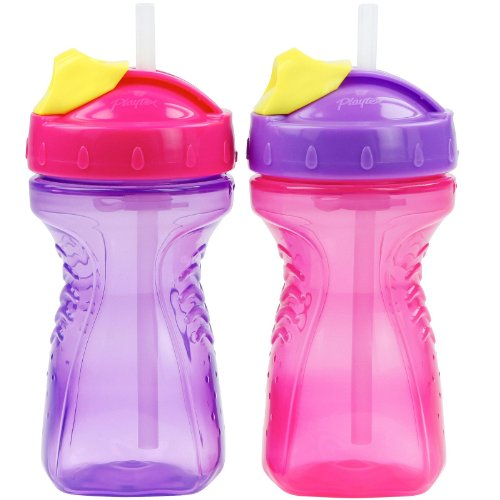 Playtex Lil' Gripper Straw Cup - 9 Oz - Girl - 2 Ct front-587135