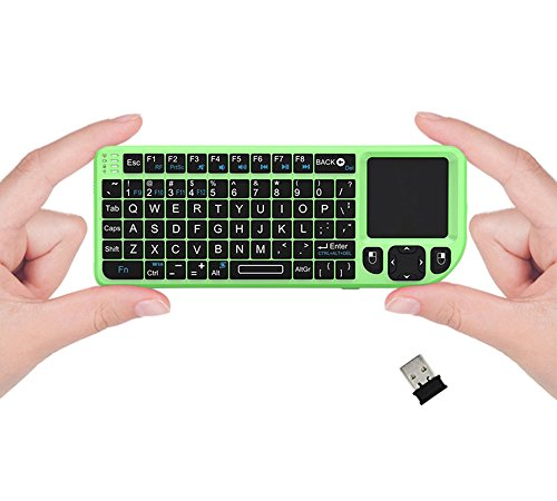FAVI FE01 2.4GHz Wireless USB Mini Keyboard w Mouse Touchpad, Laser Pointer - US Version (Includes Warranty) - Green (FE01-GR) (Sold And Shipped By Amazon Only compare prices)