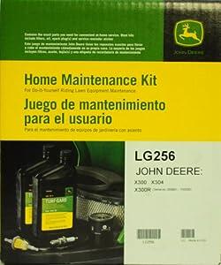 John Deere Genuine LG256 Home Maintenance Kit for JOHN DEERE: X300 (Serial no. 010001 - 120000) X304 X300R (Serial no. 000001 - 150000) from John Deere