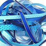Ribbon off cut bundle - Blue shade -...