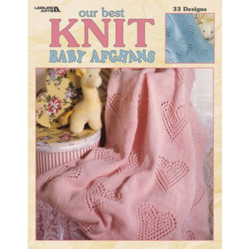 Leisure Arts Our Best Knit Baby Afghans Book front-880210