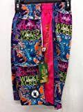 Flow Society Authentic Lacrosse Gear Mesh Shorts Wicked Purple Pink Tree Size Youth Medium
