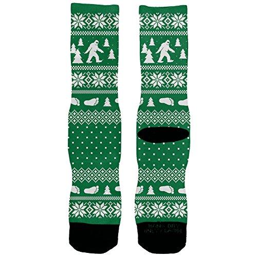 Sasquatch Ugly Christmas Socks