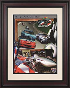 NASCAR Daytona 500 Program Framed Vintage Advertisement Race Year: 40th Annual - 1998 by Mounted Memories