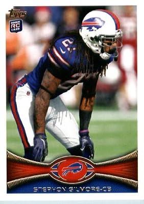 2012 Topps Football Card # 154 Stephon Gilmore RC - Buffalo Bills (RC - Rookie Card)(NFL Trading Card)