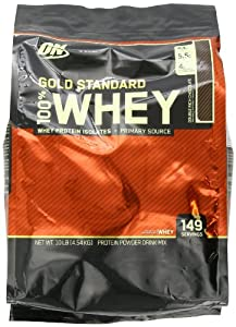 Optimum Nutrition 100% Whey Gold Standard, Double Rich Chocolate, 10 Pounds Bags, Packaging May Vary