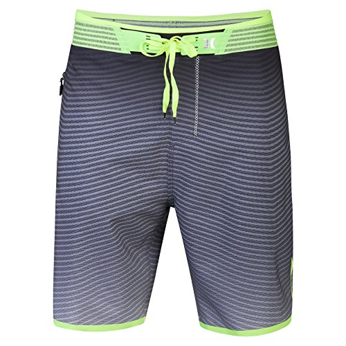 Hurley Phantom Block Party Hyperweave Flow Elite, Color: Anthracite, Size: 34