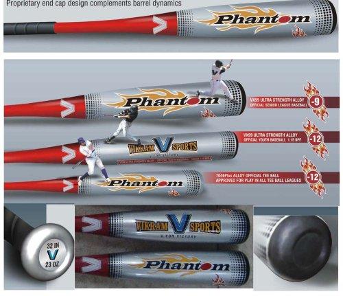 Brand NEW 2013 Phantom BIG 2.75 inch BARREL Baseball Bat 32 Inch 23 oz (-9) made from VX99 Ultra Strength Alloy by Vikram Sports at Factory Direct Price