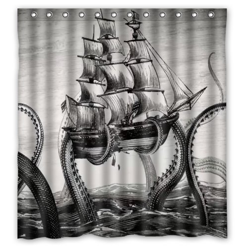 Sailing Big Octopus on the Sea Black