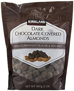 Amazon.com : Kirkland Signature Dark Chocolate Covered Almonds, 32