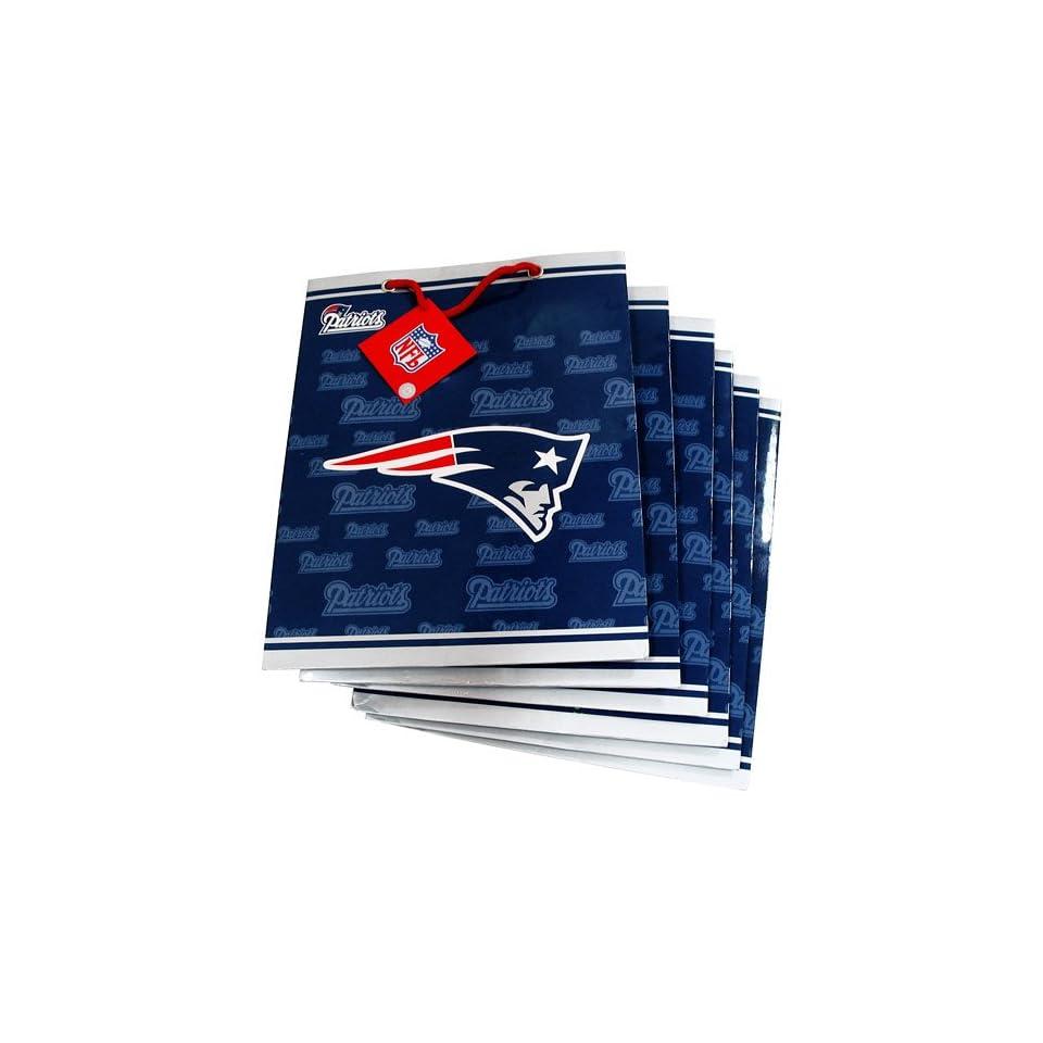 Pro Specialties New England Patriots Team Logo Medium Size Gift Bag (6 Pack)   New England Patriots One Size