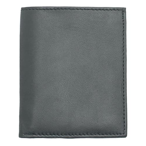 MENS SOFT BLACK   BROWN REAL LEATHER ULTRA SLIM MINI CREDIT CARD NOTE CASE WALLET - 1212
