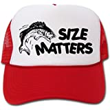 Size Matters! Funny Fishing Design Mesh Hats / Cap