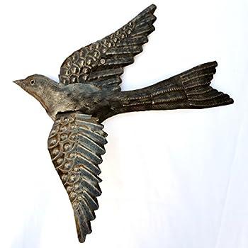 Haitian Birds Recycled Steel Drum Art 3-d Wings 11