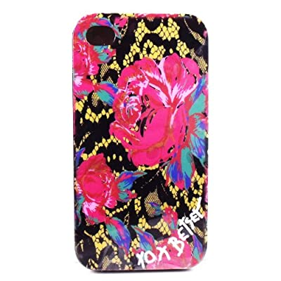 Amazon.com: Betsey Johnson IPhone 4 4S Case Black Lace Rose Case