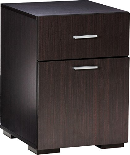 Comfort Products 50-2401ES Modern 2 Drawer Lateral File Cabinet, Espresso (Espresso 2 Drawer File Cabinet compare prices)